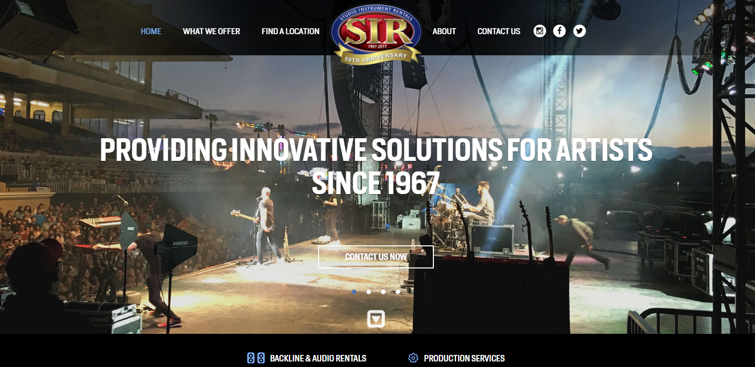 sir full service musical equipment rental and production facility. Black Bedroom Furniture Sets. Home Design Ideas